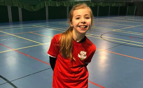 Ffion at sports court